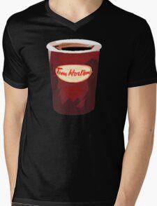 Tim Horton's Cup Vector Mens V-Neck T-Shirt