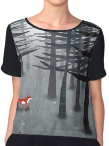 The Fox and the Forest Chiffon Top