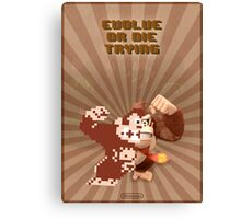 Donkey Kong Evolve of Die Trying Canvas Print