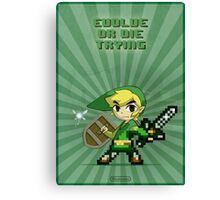 Link Evolve or die trying Canvas Print