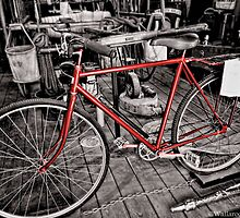The Fireman's Bicycle by wallarooimages