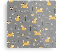 Foxy Grey Metal Print