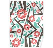 Blooming Trees Pattern IV Poster