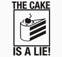 Portal the cake is a lie One Piece - Long Sleeve
