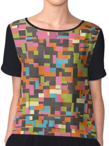 Colorful pixels Chiffon Top