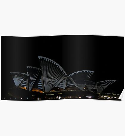 Lighting The Sails - Vivid 2014 - Inside Out Poster