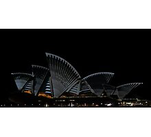 Lighting The Sails - Vivid 2014 - Inside Out Photographic Print