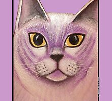 Lilac Burmese Cat Painting by amanda metalcat