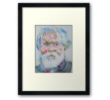 IVAN TURGENEV - watercolor portrait Framed Print