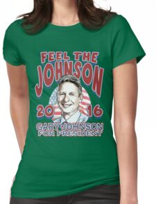 Feel The Johnson Election 2016 Womens Fitted T-Shirt