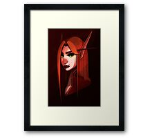 Blood Elf Female Framed Print