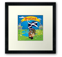 Greetings from Scotland Framed Print