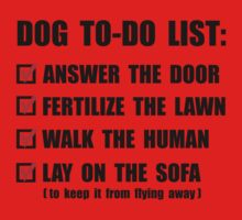 Dog To Do List One Piece - Short Sleeve