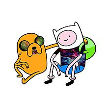 Adventure Time Jack and Finn  Photographic Print