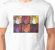 Six Panels of Flowers Unisex T-Shirt