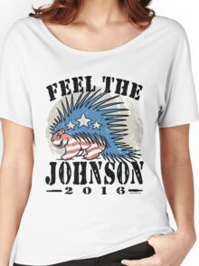 Feel The Johnson Libertarian Porcupine Women's Relaxed Fit T-Shirt