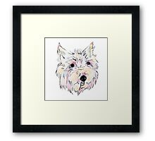 Cute Little Westie (Pastel) Framed Print
