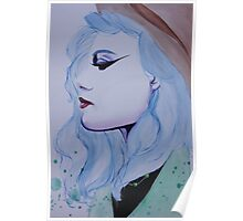 blue haired girl Poster
