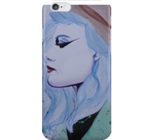 blue haired girl iPhone Case/Skin