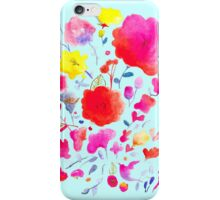 Watercolour flowers iPhone Case/Skin