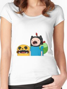 Adventure Time Jack and Finn  Women's Fitted Scoop T-Shirt