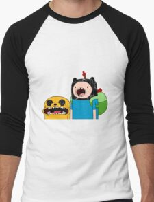 Adventure Time Jack and Finn  Men's Baseball ¾ T-Shirt