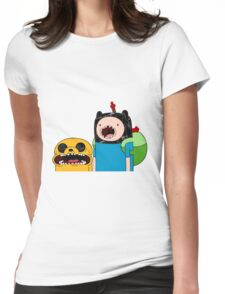 Adventure Time Jack and Finn  Womens Fitted T-Shirt