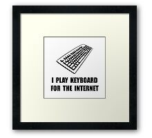 Keyboard Internet Framed Print