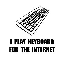 Keyboard Internet Photographic Print
