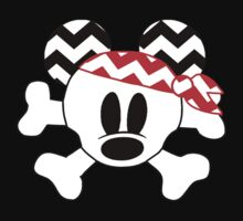 Mickey Mouse chevron pirate skull crossbones by sweetsisters