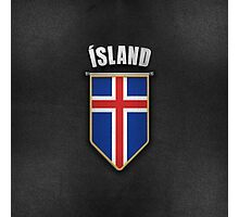 Iceland Pennant with high quality leather look Photographic Print