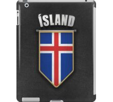 Iceland Pennant with high quality leather look iPad Case/Skin