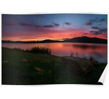 Lake Wyaralong Sunset Poster