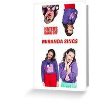 Miranda Sings x4 Greeting Card