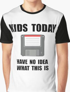 Kids Today Computer Disk Graphic T-Shirt
