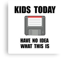 Kids Today Computer Disk Canvas Print