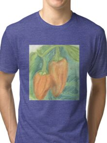 Two Orange Peppers Tri-blend T-Shirt