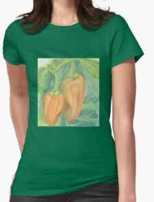 Two Orange Peppers Womens Fitted T-Shirt