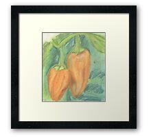 Two Orange Peppers Framed Print