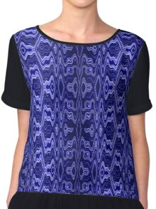 Blue pattern V Chiffon Top