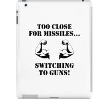 Missiles To Guns Biceps iPad Case/Skin