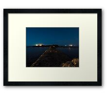 At night, color Framed Print