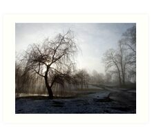 Willow in the Mist Art Print