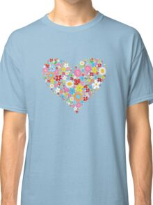 Spring Flowers Valentine Heart Classic T-Shirt