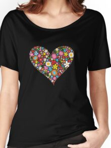 Spring Flowers Valentine Heart Women's Relaxed Fit T-Shirt