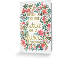 Little & Fierce Greeting Card