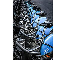Blue Bicycles Photographic Print