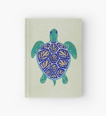 Sea Turtle – Navy & Gold Hardcover Journal