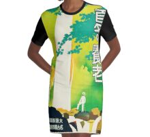 Japanese Travel Poster - Pre WWII Graphic T-Shirt Dress