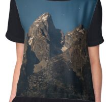 Grand Teton Mountain Range Chiffon Top